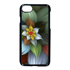 Flower Background Colorful Apple Iphone 7 Seamless Case (black) by amphoto