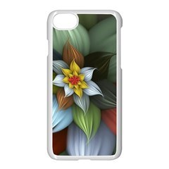 Flower Background Colorful Apple Iphone 7 Seamless Case (white) by amphoto