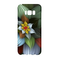 Flower Background Colorful Samsung Galaxy S8 Hardshell Case  by amphoto