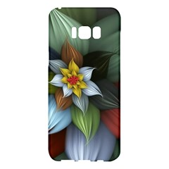 Flower Background Colorful Samsung Galaxy S8 Plus Hardshell Case  by amphoto