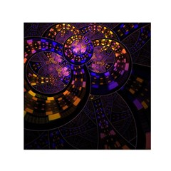 Circles Background Pattern  Small Satin Scarf (square) by amphoto