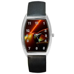 Line Figure Background  Barrel Style Metal Watch by amphoto