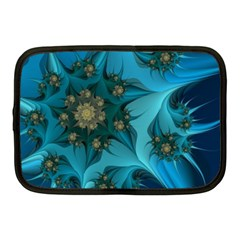Fractal Flower White Netbook Case (medium)  by amphoto