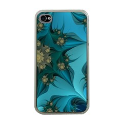 Fractal Flower White Apple Iphone 4 Case (clear) by amphoto