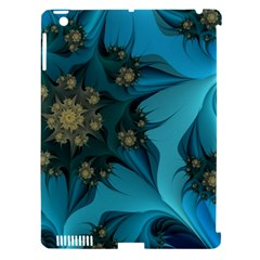 Fractal Flower White Apple Ipad 3/4 Hardshell Case (compatible With Smart Cover) by amphoto
