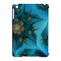 Fractal Flower White Apple Ipad Mini Hardshell Case (compatible With Smart Cover) by amphoto