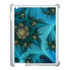 Fractal Flower White Apple Ipad 3/4 Case (white) by amphoto