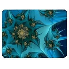 Fractal Flower White Samsung Galaxy Tab 7  P1000 Flip Case by amphoto