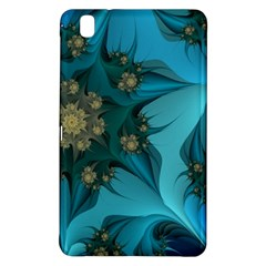 Fractal Flower White Samsung Galaxy Tab Pro 8 4 Hardshell Case by amphoto