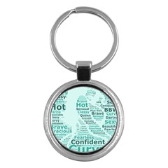 Belicious World Curvy Girl Wordle Key Chains (round)  by beliciousworld