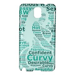 Belicious World Curvy Girl Wordle Samsung Galaxy Note 3 N9005 Hardshell Case