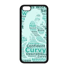 Belicious World Curvy Girl Wordle Apple Iphone 5c Seamless Case (black)