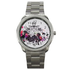 Figure Circle Triangle Sport Metal Watch by amphoto