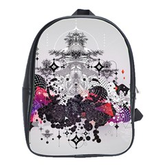 Figure Circle Triangle School Bag (large) by amphoto