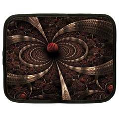 Circles Spheres Lines  Netbook Case (xl)  by amphoto