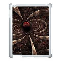 Circles Spheres Lines  Apple Ipad 3/4 Case (white) by amphoto