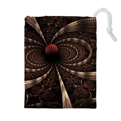 Circles Spheres Lines  Drawstring Pouches (extra Large) by amphoto