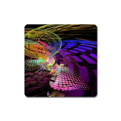 Fractal Patterns Background  Square Magnet by amphoto
