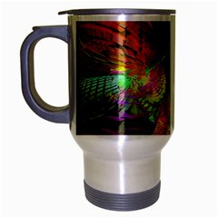 Fractal Patterns Background  Travel Mug (silver Gray) by amphoto