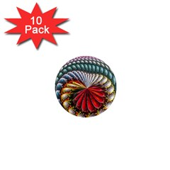 Circles Lines Background  1  Mini Magnet (10 Pack)  by amphoto