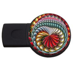 Circles Lines Background  Usb Flash Drive Round (4 Gb) by amphoto