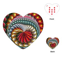 Circles Lines Background  Playing Cards (heart)  by amphoto