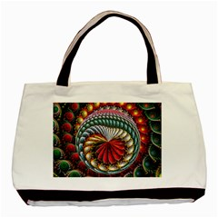 Circles Lines Background  Basic Tote Bag by amphoto