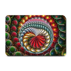 Circles Lines Background  Small Doormat  by amphoto