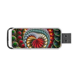 Circles Lines Background  Portable Usb Flash (one Side) by amphoto