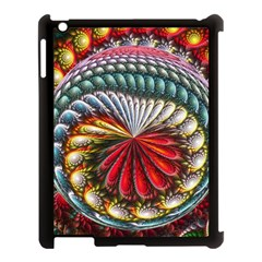 Circles Lines Background  Apple Ipad 3/4 Case (black) by amphoto