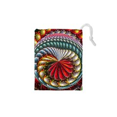 Circles Lines Background  Drawstring Pouches (xs)  by amphoto