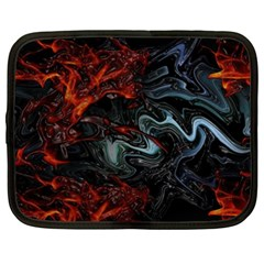 Lines Curves Background  Netbook Case (xxl)  by amphoto