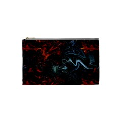 Lines Curves Background  Cosmetic Bag (small)  by amphoto