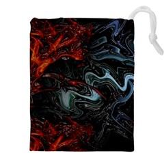 Lines Curves Background  Drawstring Pouches (xxl)