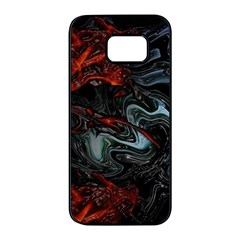 Lines Curves Background  Samsung Galaxy S7 Edge Black Seamless Case