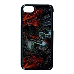 Lines Curves Background  Apple Iphone 7 Seamless Case (black)
