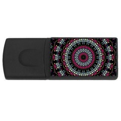 Circles Background Lines  Rectangular Usb Flash Drive by amphoto