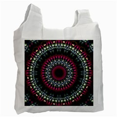 Circles Background Lines  Recycle Bag (one Side) by amphoto