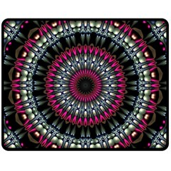 Circles Background Lines  Fleece Blanket (medium)  by amphoto