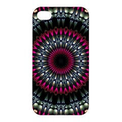 Circles Background Lines  Apple Iphone 4/4s Premium Hardshell Case by amphoto
