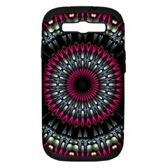 Circles Background Lines  Samsung Galaxy S Iii Hardshell Case (pc+silicone) by amphoto