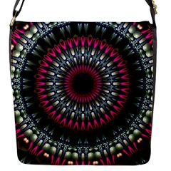 Circles Background Lines  Flap Messenger Bag (s) by amphoto
