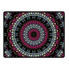 Circles Background Lines  Double Sided Fleece Blanket (small)  by amphoto