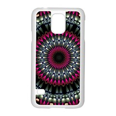 Circles Background Lines  Samsung Galaxy S5 Case (white) by amphoto