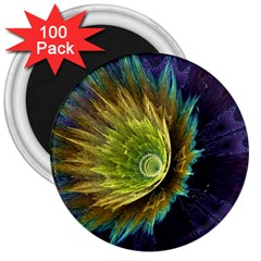 Flower Line Smoke  3  Magnets (100 Pack) by amphoto