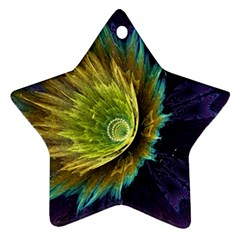 Flower Line Smoke  Star Ornament (two Sides) by amphoto