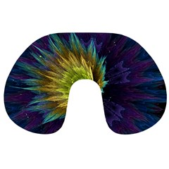Flower Line Smoke  Travel Neck Pillows by amphoto