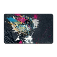 Face Paint Explosion 3840x2400 Magnet (rectangular) by amphoto