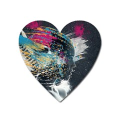 Face Paint Explosion 3840x2400 Heart Magnet by amphoto