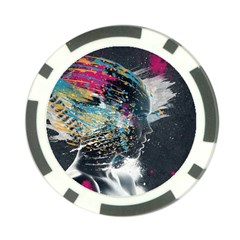 Face Paint Explosion 3840x2400 Poker Chip Card Guard by amphoto